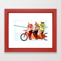 Bicycle Tour De France T… Framed Art Print