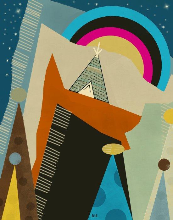 nova peaks Art Print