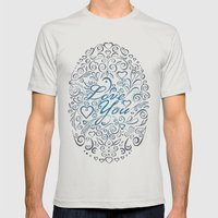 LOVE YOU Mens Fitted Tee Silver SMALL