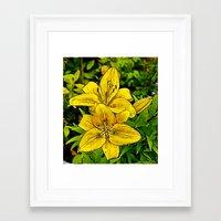 Fractal Lily Framed Art Print