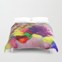 Colorful Smoke And Mirrors Duvet Cover