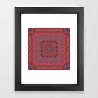 Farah Squared Red Framed Art Print