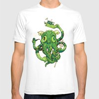 Sir Charles Cthulhu Mens Fitted Tee White SMALL