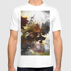 Ink, Love White SMALL Mens Fitted Tee