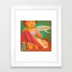 Don't Do It Peek-A-Boo Suzy! Framed Art Print