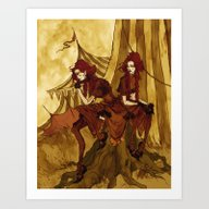 Art Print featuring The Conjoined Twins by Abigail Larson