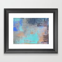 Painterly Blues Framed Art Print