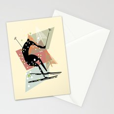Skier Stationery Cards