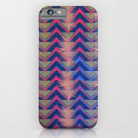 iPhone & iPod Case featuring Chevron and  Geometric with pink by Michael Ziegenhagen