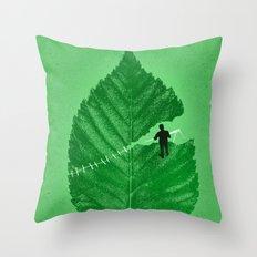 Loose Leaf Throw Pillow