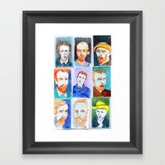 Van Gogh's Self Portraits by Lynne Holyoke 3 Framed Art Print