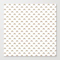 Pixel Rainbow Pattern Canvas Print