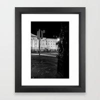 Stop. Light. [Black & White] Framed Art Print
