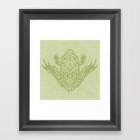 Tribal Leopard Frog Framed Art Print
