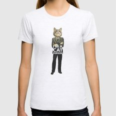 Cat Person Womens Fitted Tee Ash Grey SMALL