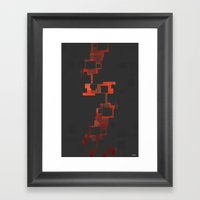 DIGITAL BURN Framed Art Print