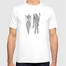 Him & Her Mens Fitted Tee SMALL White