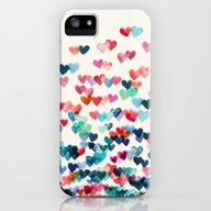 Heart Connections - Wate… iPhone (5, 5s) Slim Case