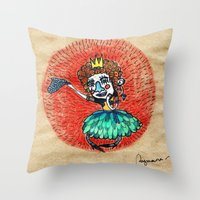 Ugly Princess Is Looking… Throw Pillow