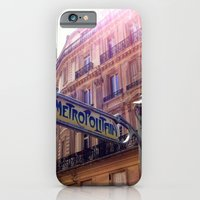 iPhone & iPod Case featuring The Metro, Paris by Christine Haynes