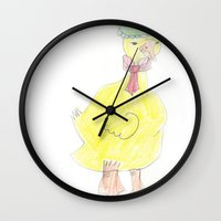 Childhood Drawings (Duck) Wall Clock