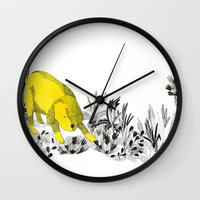 yellow dog Wall Clock