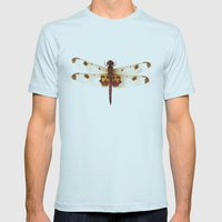 Dragonfly #4 Mens Fitted Tee Light Blue SMALL