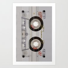 Cassette Transparent Art Print