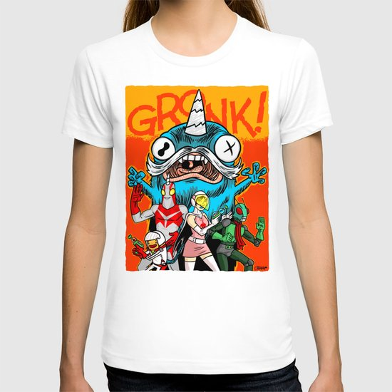 the Cryptid Crew VS Uncle Corny Kaiju T-shirt