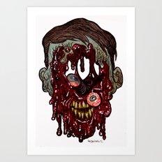 Heads of the Living Dead Zombies: Still Walking Zombie Art Print