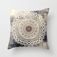 Autumn Boho Mandala Throw Pillow