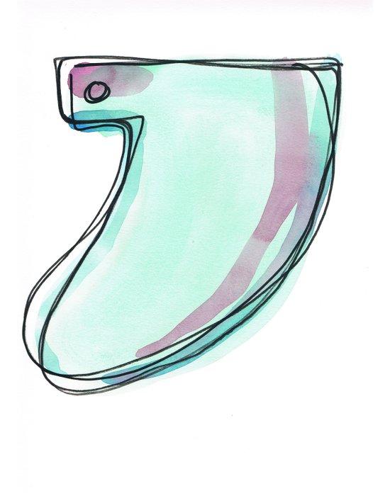 Green Surf Tail Art Print