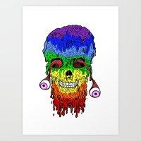 Melty face Art Print