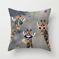 Animal Collection -- Let's Take  A Selfie Throw Pillow