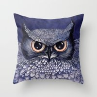 La Sagesse Du Hibou (The… Throw Pillow