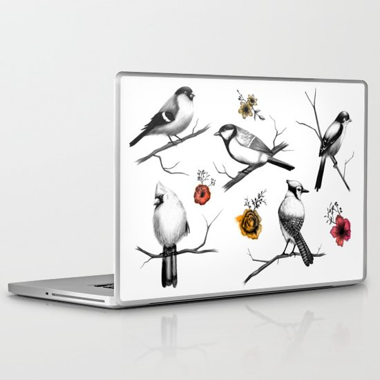 BIRDS & FLOWERS Laptop & iPad Skin