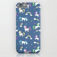 Unicorns and Rainbows - Blue iPhone 6 Slim Case