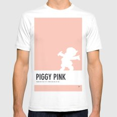 No17 My Minimal Color Code poster Porky Pig White SMALL Mens Fitted Tee