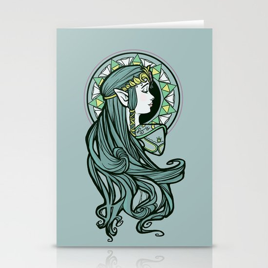 Zelda Nouveau Stationery Card