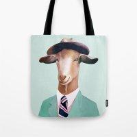 Minty Goat Tote Bag