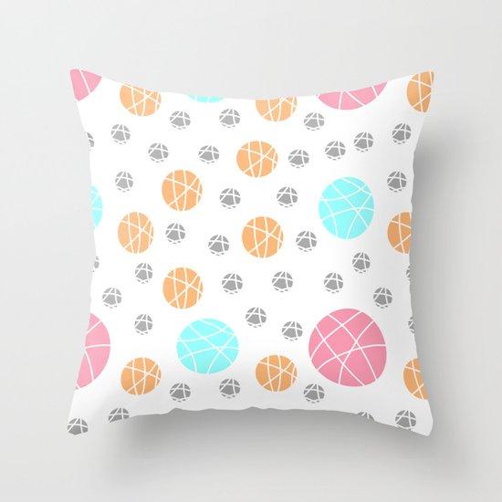 Broken Orbs (ColorOnWhite) Throw Pillow