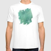 Turquoise Stone Texture Mens Fitted Tee White SMALL