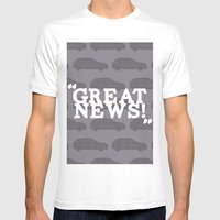 Great News Mens Fitted Tee White SMALL