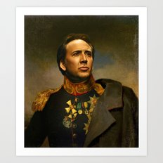 Nicolas Cage - replaceface Art Print