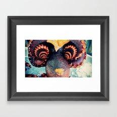 Octopus flower Framed Art Print