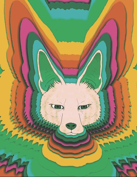 Fannec Fox Art Print