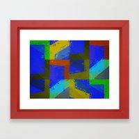 Colorful Truth. Blue. Framed Art Print