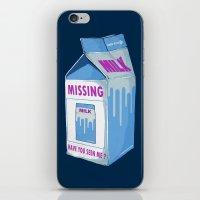 MISSING MILK iPhone & iPod Skin