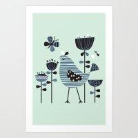 Chirpy Chirp Tweet Art Print