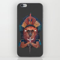 Red Fire Monkey iPhone & iPod Skin